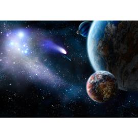 Fotobehang poster 0232 wereld aarde planeet planeten meteoriet ruimte