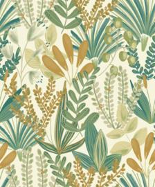 Jungle Fever Dutch jf3702 jungle bladeren groen oker geel