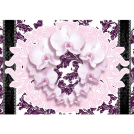 Fotobehang poster 2104 bloemen orchidee schilderij