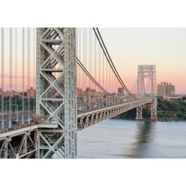 Fotobehang poster 0187 new york brug manhattan bridge