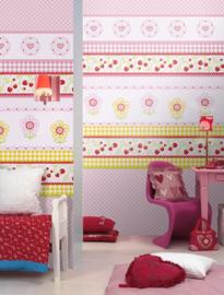 Kay & Liv ink7030 bloemen aardbei roze girls