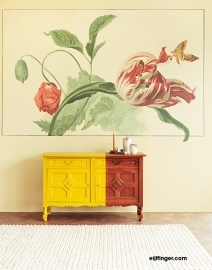 Eijffinger Masterpiece 358118 Tulip and Poppy cream