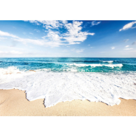 Fotobehang poster 3263 golven strand zee schuim