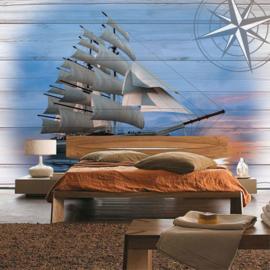 Fotobehang poster 3183 boot galjoen zeilboot zeilschip sailing