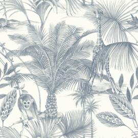 Jungle Fever Dutch jf3502 jungle aap giraf blauw wit