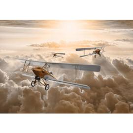 Fotobehang poster 3382 vliegtuig dubbeldekker