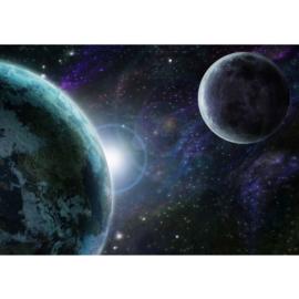 Fotobehang poster 0229 universum planeten zon maan