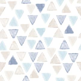 27171 driehoek blauw creme wit