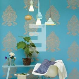Eijffinger pip studio 341052 bloem aqua blauw