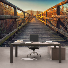 Fotobehang poster 0175 houten loopbrug steiger