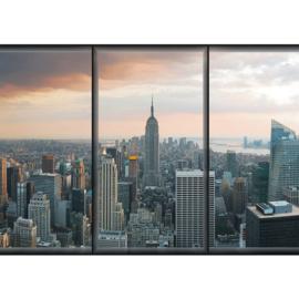 Fotobehang poster 1929 wolkenkrabber skyline new york