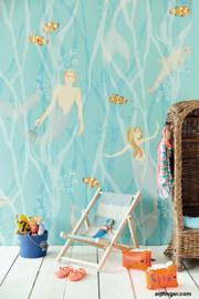 Eijffinger Mermaids 364150 Azur zeemeermin