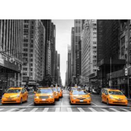 Fotobehang poster 0210 taxi yellow cab new york manhattan