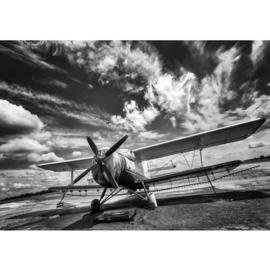 Fotobehang poster 4506 vliegtuig propeller dubbeldekker