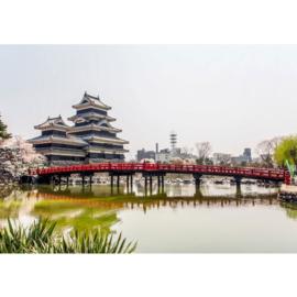 Fotobehang poster 0253 japan tempel brug