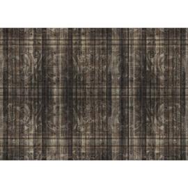 Fotobehang poster 1701 hout patroon bruin
