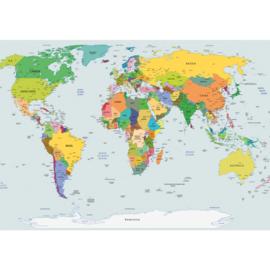 Fotobehang 2474 wereldkaart landkaart