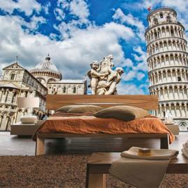 Fotobehang 1943 Italie Pisa toren van pisa