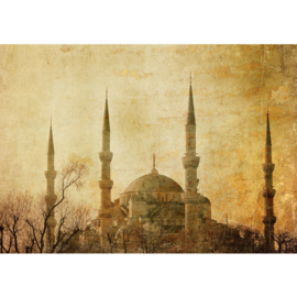 Fotobehang poster 0267 turkije istanbul moskee minaret