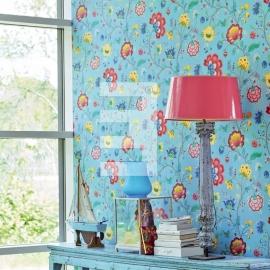 Eijffinger pip studio 341035 bloem blauw