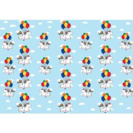 Fotobehang poster 4470 kinderkamer unicorn ballon