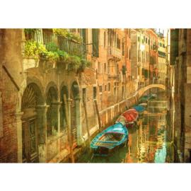 Fotobehang poster 0432 italie venetie boten
