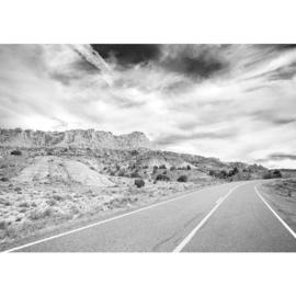 Fotobehang poster 2556 landschap woestijn road weg route66