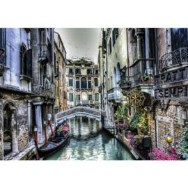 Fotobehang 2374 Italie Venetie gondel waterweg brug