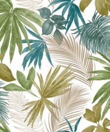 Jungle Fever Dutch jf3602 bladeren groen oker geel goud