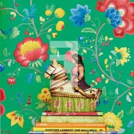 Eijffinger pip studio 341036 bloem groen , floral fantasy green