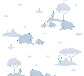 AS 381281 olifant blauw wit baby kinder