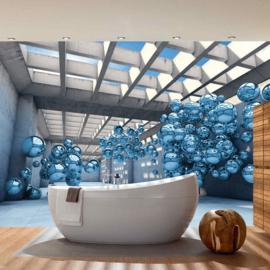 Fotobehang 3247 ballon kunst abstract architectuur blauw