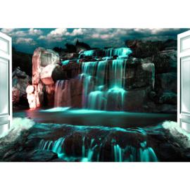 Fotobehang poster 2964 waterval fantasie