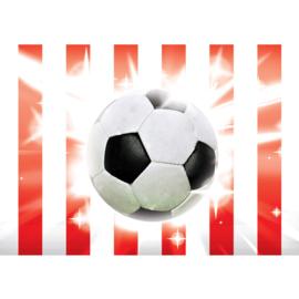 Fotobehang poster 1034 kinderkamer sport voetbal rood wit