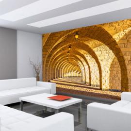 Fotobehang poster 0066 gewelven zandsteen bouwwerk architectuur