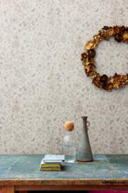 Eijffinger Pip 4 375011 beige/vogels/bloemen/landelijk