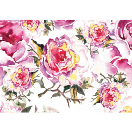 Fotobehang 527 bloem schilderij 300 x 210