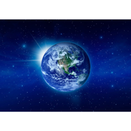 Fotobehang poster 0231 wereld aarde planeet universum sterren wereldbol