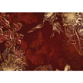 Fotobehang poster 1560 bloemen abstrakt schilderij