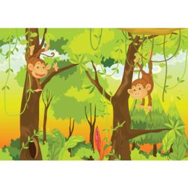 Fotobehang poster 0094 kinderkamer jungle apen