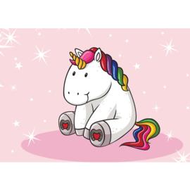 Fotobehang poster 4468 kinderkamer unicorn roze