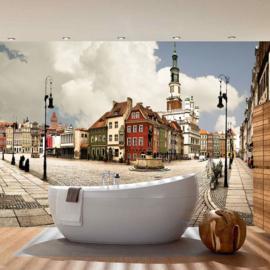 Fotobehang 3273  oude stad met fontein
