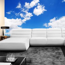Fotobehang poster 0154 wolken blauwe lucht
