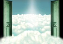 Fotobehang poster 2003 hemelpoort wolken hemel