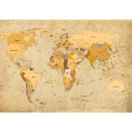Fotobehang 2427 wereldkaart landkaart landen
