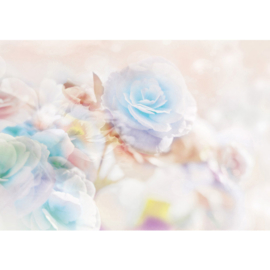 Fotobehang poster 1866 bloemen planten rozen