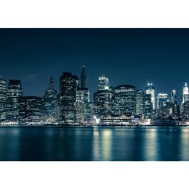 Fotobehang poster 0022 skyline new york blauw big apple