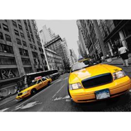 Fotobehang 0848 USA New York auto taxi geel yellow cab