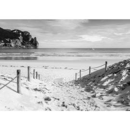 Fotobehang poster 1850 strand zee uitzicht beach