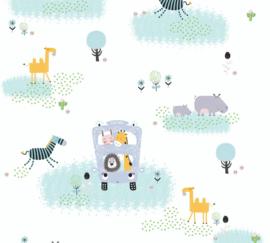 AS 381141 safari jungle leeuw nijlpaard giraf